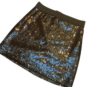Romeo & Juliet Couture Sequin Night Out Mini Skirt Black