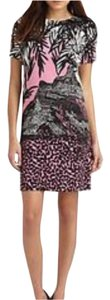 Diane von Furstenberg short dress Pink, black, white on Tradesy