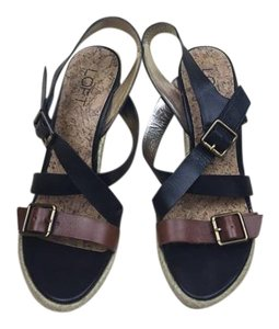Ann Taylor LOFT Black/brown Sandals