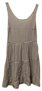 Divided by H&M short dress Black and white striped on Tradesy