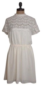 Pins and Needles short dress CREAM Lace Romantic on Tradesy