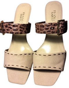 Franco Sarto Snakeskin/Brown and beige Sandals