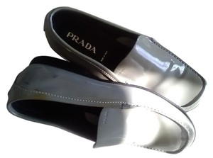 Prada Camouflage Green Patent Leather Flats