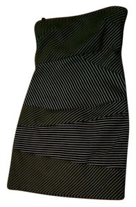Banana Republic short dress Black and White Striped Stretch on Tradesy