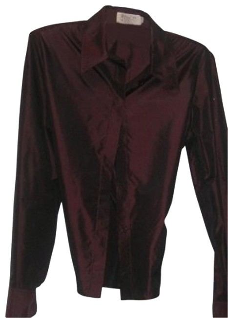 Preload https://img-static.tradesy.com/item/19103/calvin-klein-burgandy-silk-blouse-size-10-m-0-1-650-650.jpg