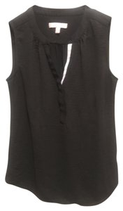 Banana Republic Sleeveless V-neck Top black