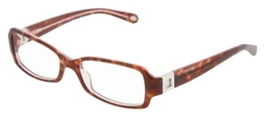 Tiffany & Co. TF 2032 TF2032-B PINK HAVANA EYEGLASSES GLASSES SQUARE CRYSTAL