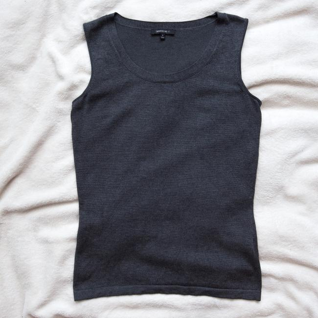 Lafayette 148 New York Anthracite Petite Shell Top Gray