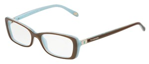 Tiffany & Co. TF 2095 TF2095 EYEGLASSES GLASSES SQUARE LOCK KEY BROWN BLUE