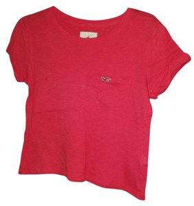 Hollister Simple Affordable T Shirt Red