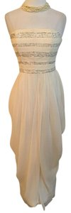 Jason Wu Cream Beaded Gauze Dress