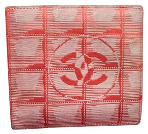 Chanel Chanel Travel Red Embroidered CC Bifold Wallet