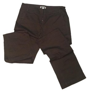 Mango Straight Pants Dark olive green