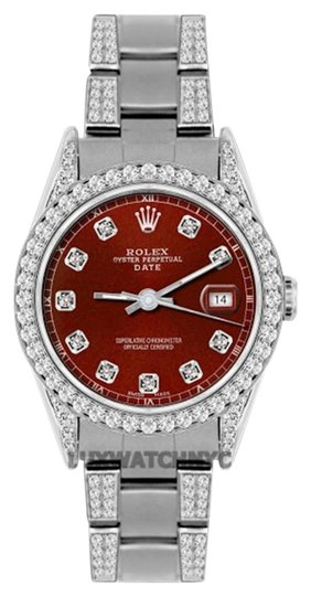 Preload https://img-static.tradesy.com/item/19105183/rolex-34mm-date-ss-45-ct-diamond-watch-0-1-540-540.jpg