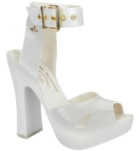 Vivienne Westwood Orb Jelly Anglomania Platform WHITE PEARL Sandals