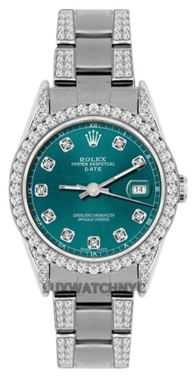 Preload https://img-static.tradesy.com/item/19105264/rolex-34mm-date-ss-45-ct-diamond-watch-0-1-540-540.jpg