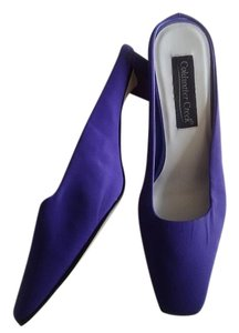 Coldwater Creek Purple Fabgric Mules