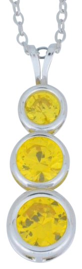 Other Citrine Round Bezel Pendant .925 Sterling Silver