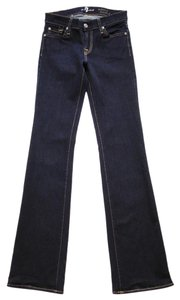 7 For All Mankind Slim Fit Wash Boot Cut Jeans-Dark Rinse