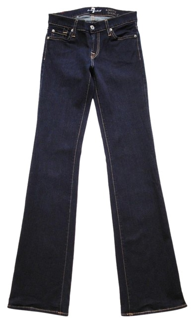Preload https://item2.tradesy.com/images/7-for-all-mankind-indigo-dark-blue-rinse-the-skinny-boot-cut-jeans-size-30-6-m-19105456-0-1.jpg?width=400&height=650