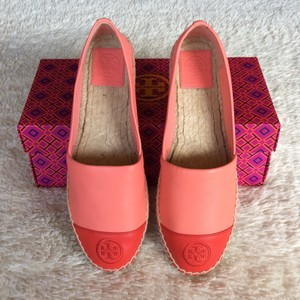 Tory Burch Hot Coral and Vermilion Flats