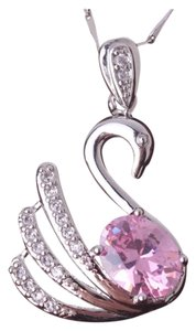Other New Swarovski Element Swan White Gold Filled Necklace