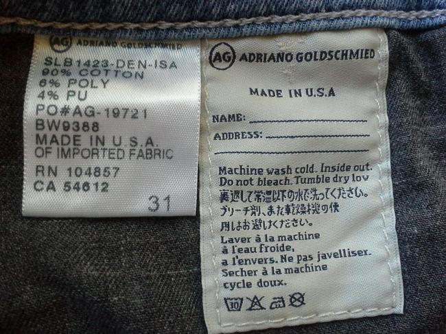 AG Adriano Goldschmied Liberty Liberty Art Jeans Shorts blue