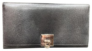Salvatore Ferragamo 228601 Embossed Fur Ferragamo Long Horse Wallet 4x8