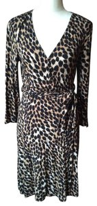 INC International Concepts Animal Print Wrap Size M Dress