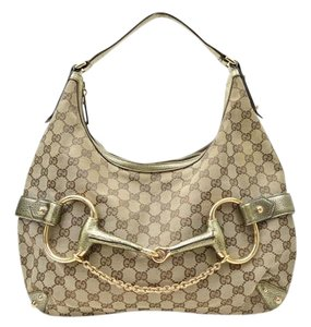Gucci Horsebit Gg Hobo Bag
