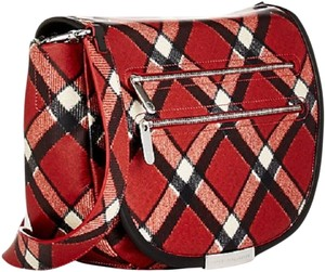 Marc by Marc Jacobs Leather Plaid Red, Black & Ivory Messenger Bag