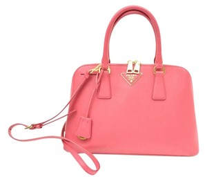 Prada Rose Promenade Saffiano Satchel in Rose Pink