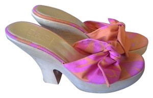 Dolce&Gabbana Dg Dolce & Gabbana Platforms Pink & Orange Wedges