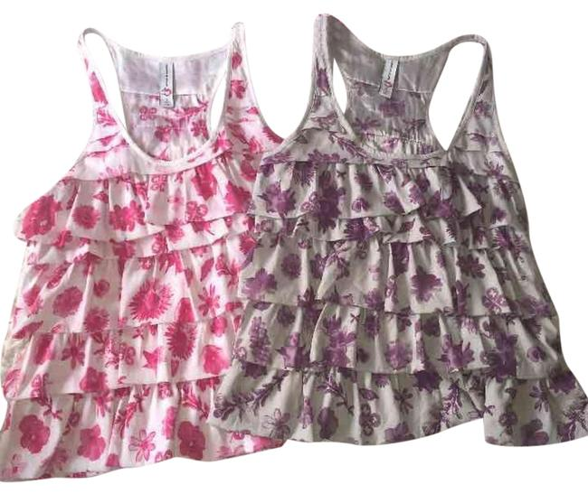 Preload https://item1.tradesy.com/images/married-to-the-mob-pink-white-purple-gray-silver-grey-2-ruffle-tanks-in-s-blouse-size-6-s-19106470-0-1.jpg?width=400&height=650