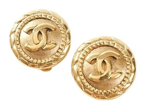 Chanel Chanel Logo Earrings