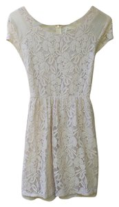 Coincidence & Chance short dress Beige/Ivory Lace on Tradesy
