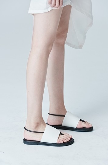 # Nude White Sandals
