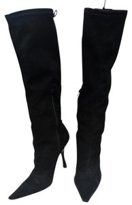 BCBGeneration Lace Up Stretchy black suede Boots