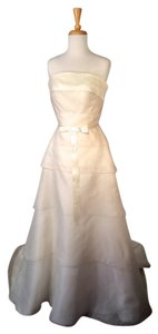 Judd Waddell Ivory Organza Layered Strapless Wedding Gown Wedding Dress
