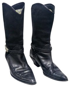 Via Spiga Suede Leather Silver Hardware black Boots