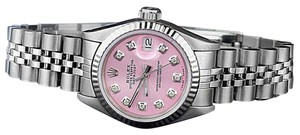 Rolex Women`s Rolex 26mm Datejust Metallic Pink Diamond Dial Watch