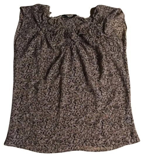 Brown Top #19111300 - Blouses 80%OFF