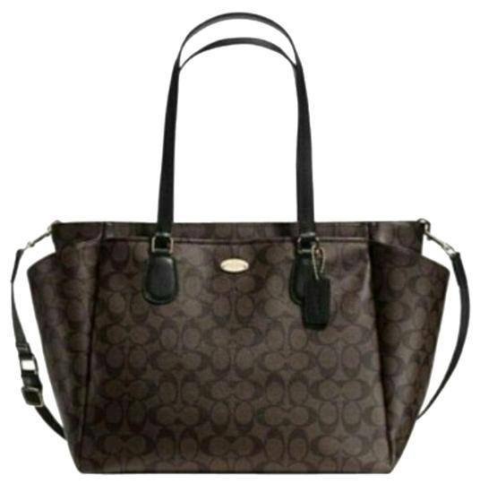 Coach Tote Weekender Laptop Brown/Black Diaper Bag
