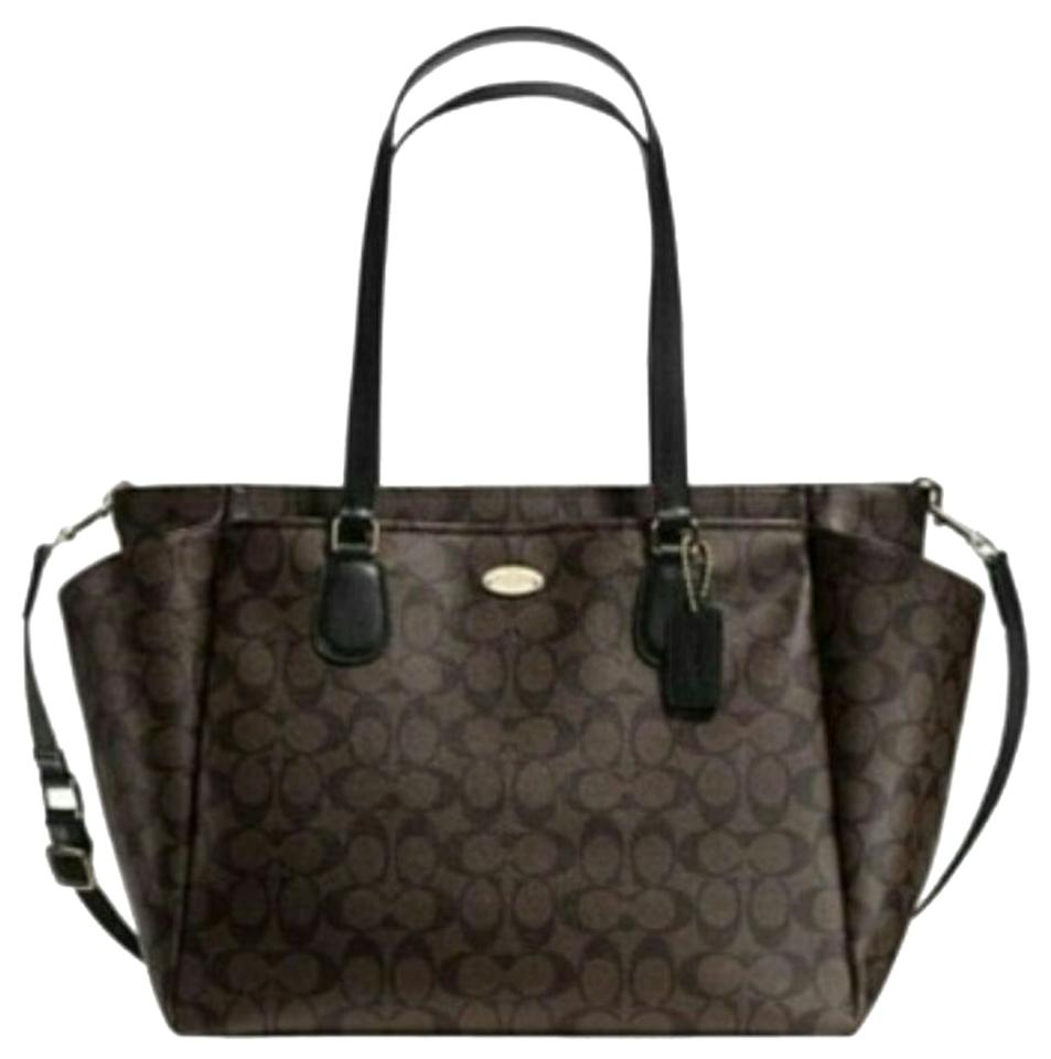 92a2ef495f Coach Tote Weekender Laptop Brown Black Diaper Bag … Bighit The total brand  wholesale