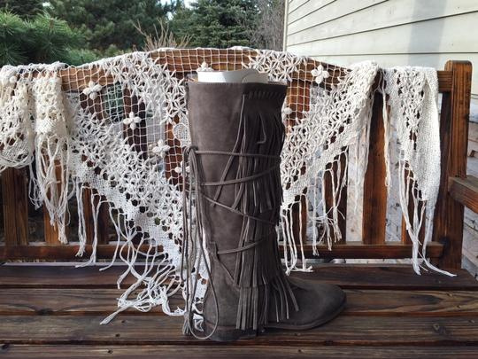 Farylrobin Free People Songbird Soles Distressed Stone Washed GREY Boots