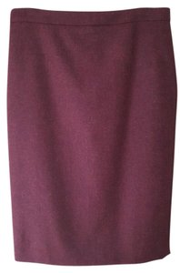 Pure Collection Pencil Skirt Burgundy