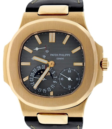Patek philippe nautilus rose gold moonphase power reserve box papers 13 off retail for Patek philippe moonphase