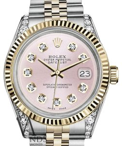 Rolex Woman's Rolex 26mm Datejust 2 Tone Metallic Pink
