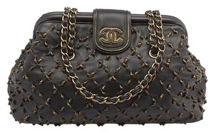 Chanel Cc Studded Knots Doctor Satchel Shoulder Bag