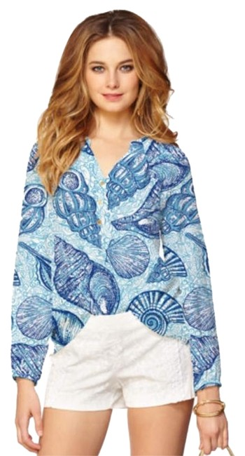 Preload https://item4.tradesy.com/images/lilly-pulitzer-blue-elsa-blouse-size-2-xs-19112323-0-1.jpg?width=400&height=650
